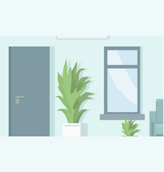 cartoon empty background corridor or office vector image