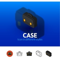 Case icon in different style vector image