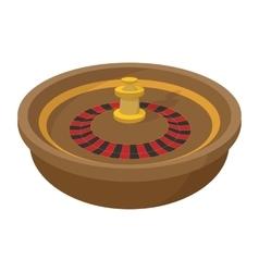 Casino symbol roulette cartoon icon vector image
