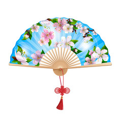 chinese hand fan vector image