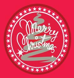 Christmas print vector image