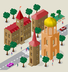 Cityscape in european architectural style set of vector