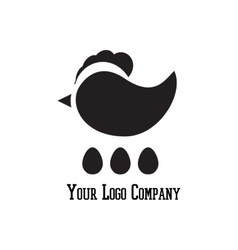 Cock sign branding corporate logo isolated vector