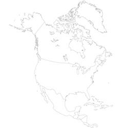 Contour north america vector