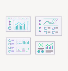 Data graph reports set business vector