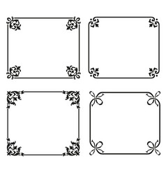 Decorative frames and borders backgrounds set vector