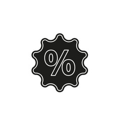 discount percent sign sale percentage - price vector image