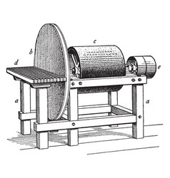 Disk and drum sander vintage vector