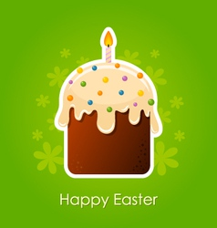 Easter cake with candle vector image