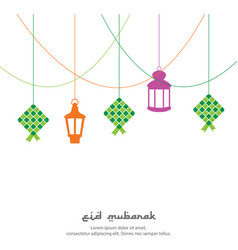 eid mubarak greeting background with vector image