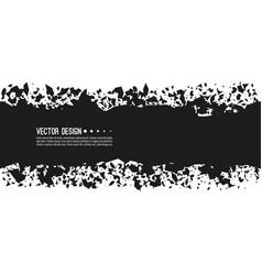 explosive black rectangular banner vector image