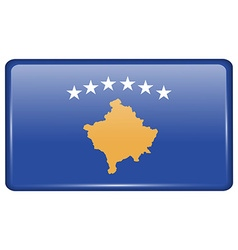 Flags Kosovo in the form of a magnet on vector