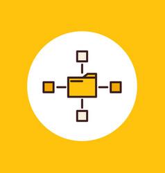 folder icon sign symbol vector image
