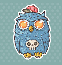 funny cartoon owl vector image