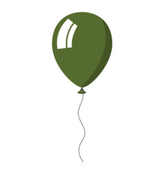 green balloon on white background vector image