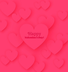 Greeting Card Happy Valentines Day with flat vector image