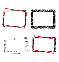 grunge borders set with place for your text vector image