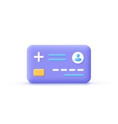 Healthcare smart card icon digital health vector