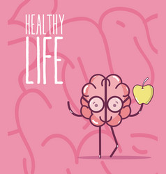 healthy life and brain vector image