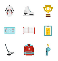 Ice skating icons set flat style vector