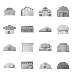 Isolated object barn and farm icon collection vector