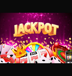 jackpot casino big win vector image
