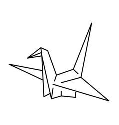 Japan shinto ceremony paper crane bird vector