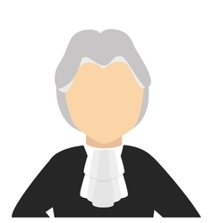 judge avatar character icon vector image