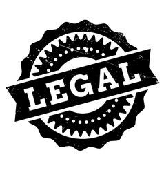 Legal stamp rubber grunge vector