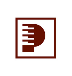 letter p piano abstract logo icon vector image