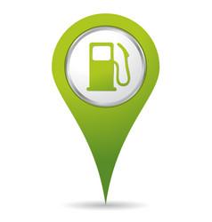 location gas pump icon vector image
