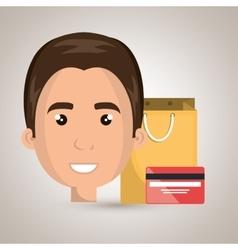 Man credit card gift vector