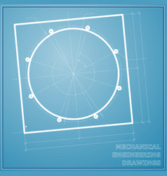Mechanical engineering blue and white drawings vector