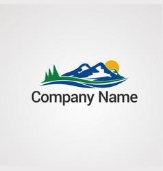 Mountain logo concept icon element and template vector