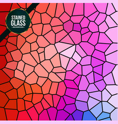 Multicolor broken stained glass background vector
