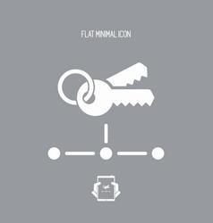 Network key access - flat minimal icon vector