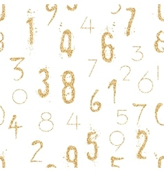 Numeral seamless pattern with glitter sparkle vector