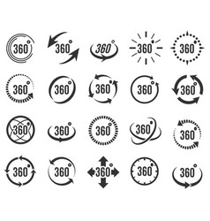 panoramic 360 icons vector image