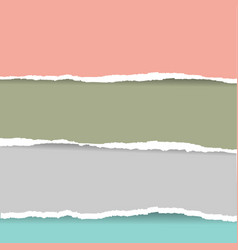 Pastel color torn paper vector