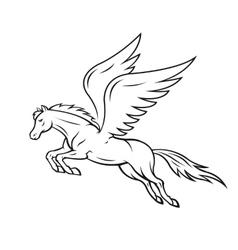 Pegasus horse vector
