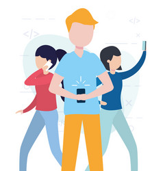 people online related vector image