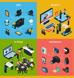 Photo video design concept vector