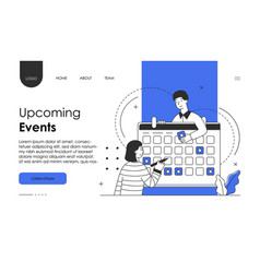 Planning schedule concept with characters vector