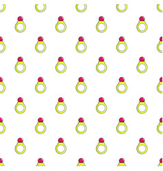 Princess ring pattern seamless vector
