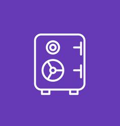 Safe icon strongbox linear pictogram vector