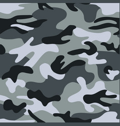 Seamless classic camouflage pattern camo vector