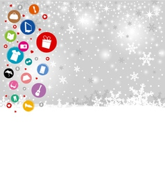 Shopping icon design on christmas background vector image