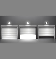 Shutter door or rolling door vector
