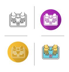 spa salon nails bath icon vector image