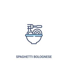 Spaghetti bolognese concept 2 colored icon simple vector